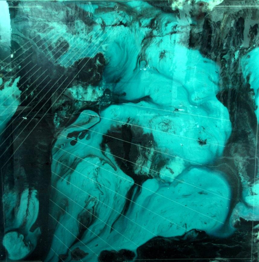 34. foto. Manuel Gracia Logos 121 Lacas y óleo sobre MDF 140x140cm