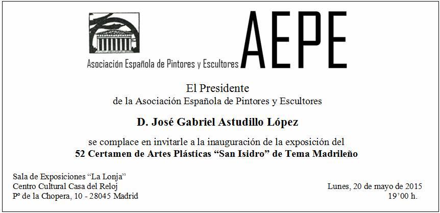 Invitaciones 52 San Isidro 2015