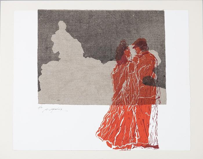 Mención. Araceli Martín Aparicio. Chulapos -59x74 cm - Grabado
