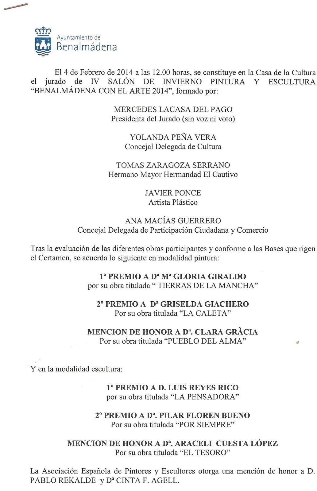 Acta IV Salón de Invierno