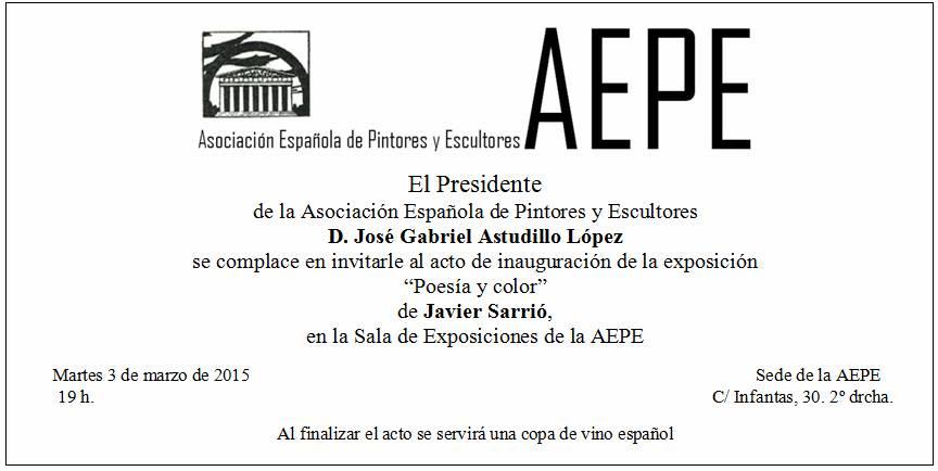Invitación Javier Sarrió