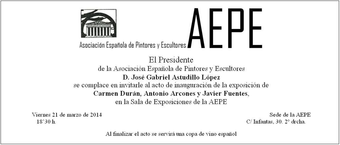Invitación inaugurac.exp.Marzo 2014