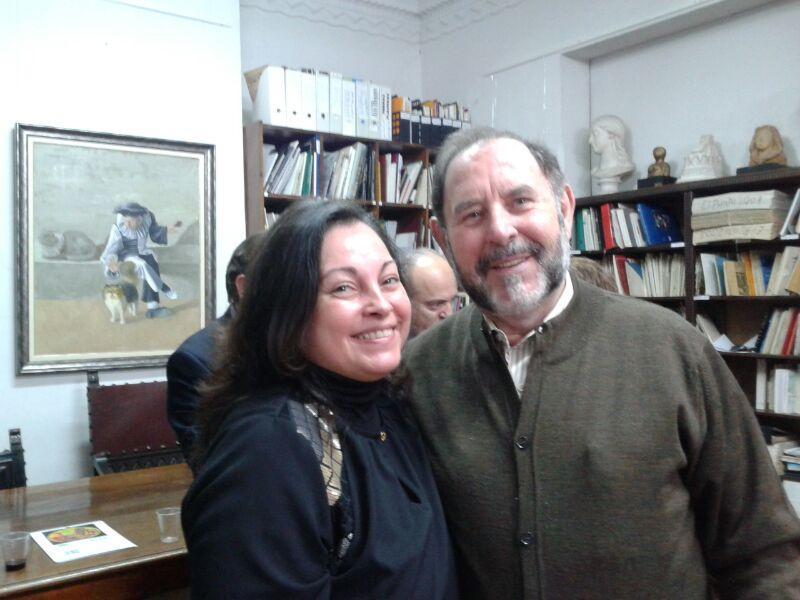 Mª Dolores Barreda Pérez, Secretaria General y Evaristo Guerra