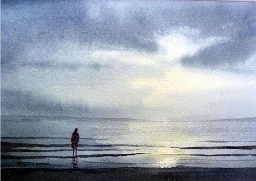 Amanecer en la playa 1