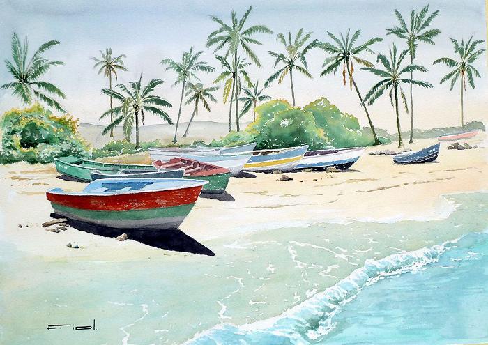 Barcas y cocoteros 1
