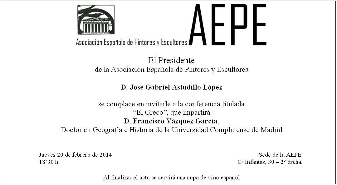 Invitación Conferencia Francisco Vázquez