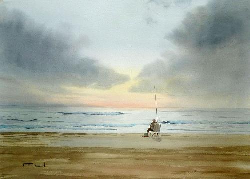 Pescando al amanecer 1