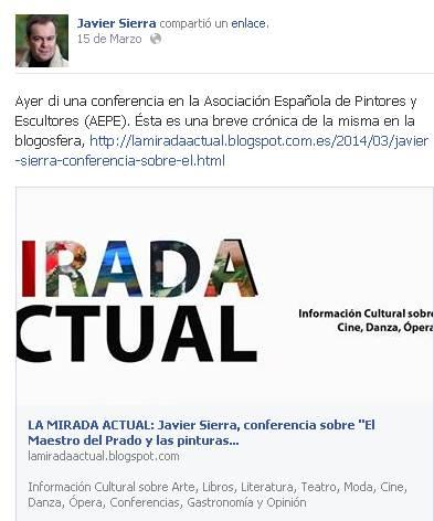 Facebook Javier Sierra