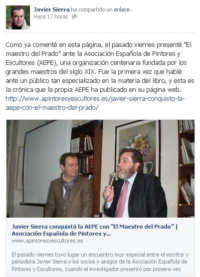 Facebook Javier tras conferencia