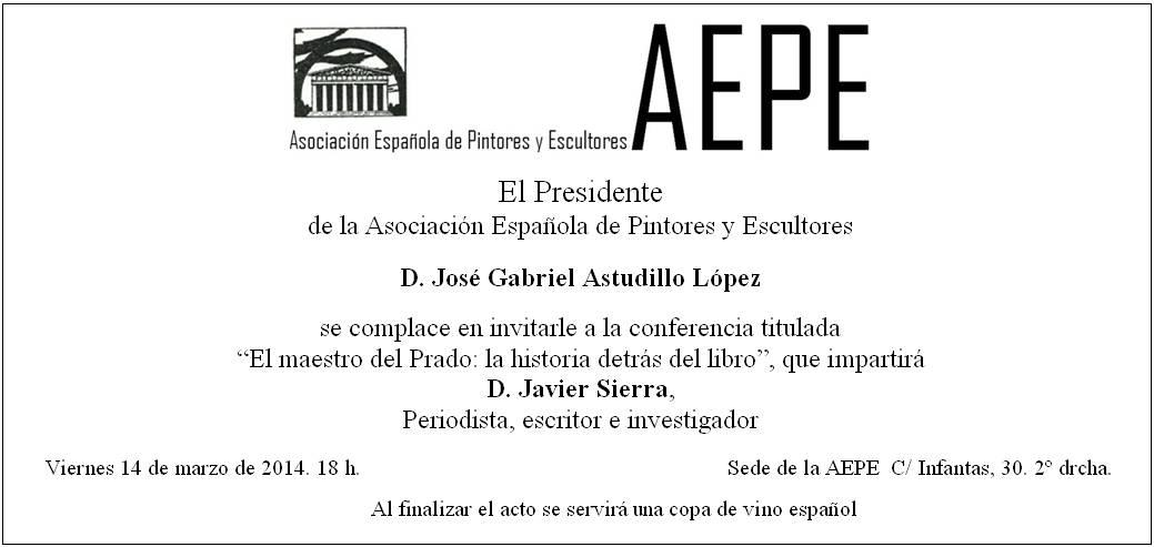 Invitación conferencia Javier Sierra