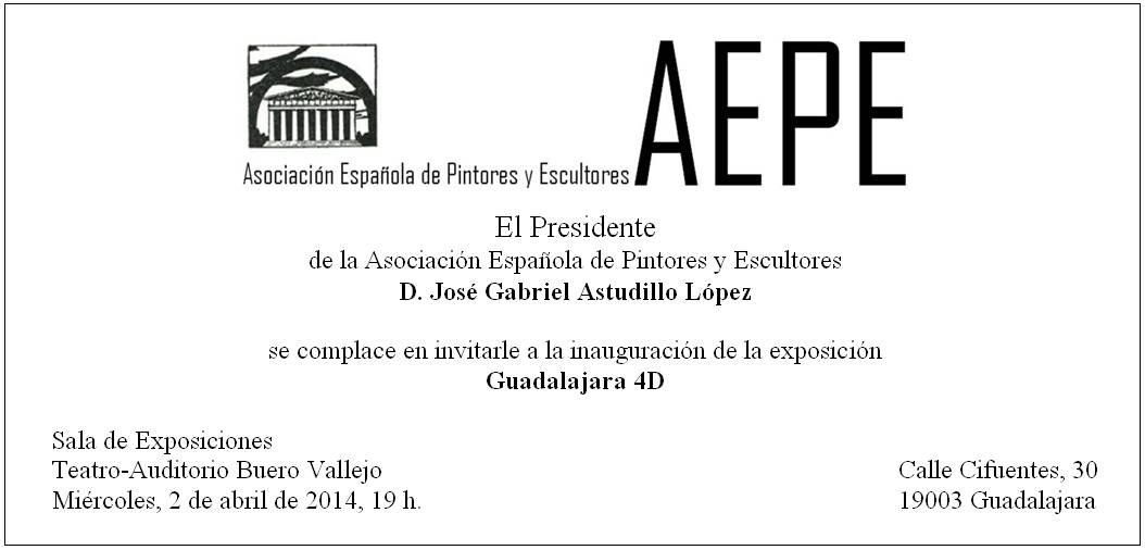 Invitación inauguración Guadalajara 4D