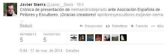 Twitter J. Sierra tras crónica