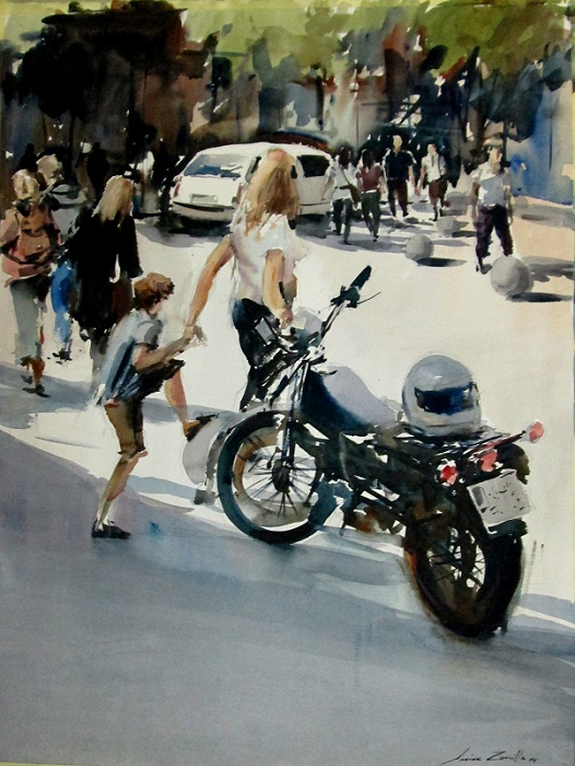 1 Por las calles de Madrid. 65x50 cm.