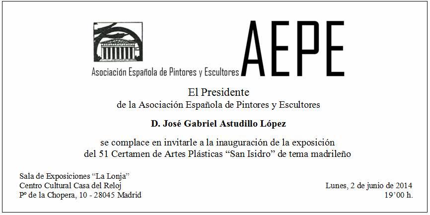 Invitación San Isidro 2014