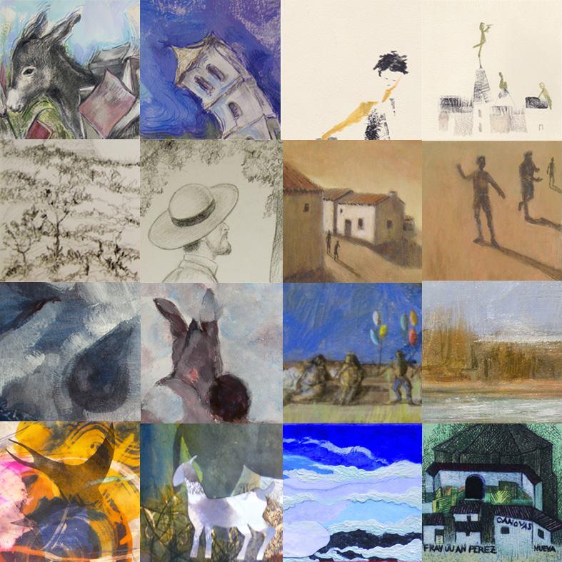 Platero y los artistas varios dibujos cuatro