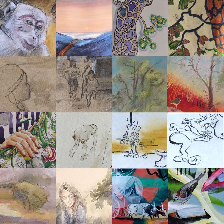 Platero y los artistas varios dibujos dos