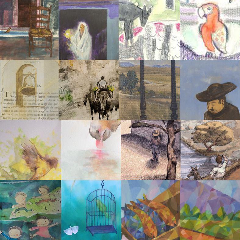 Platero y los artistas varios dibujos tres