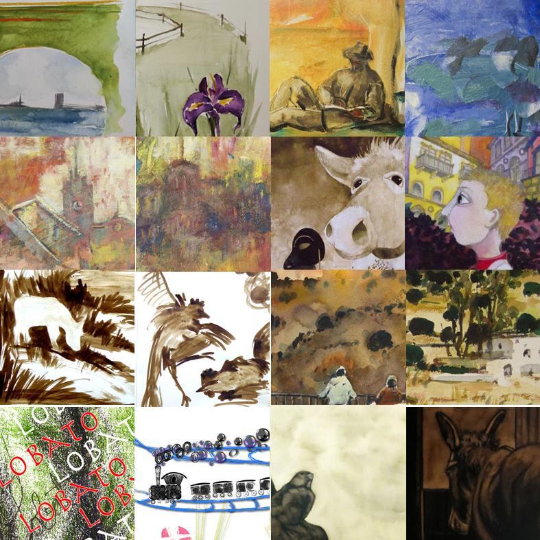 Platero y los artistas varios dibujos