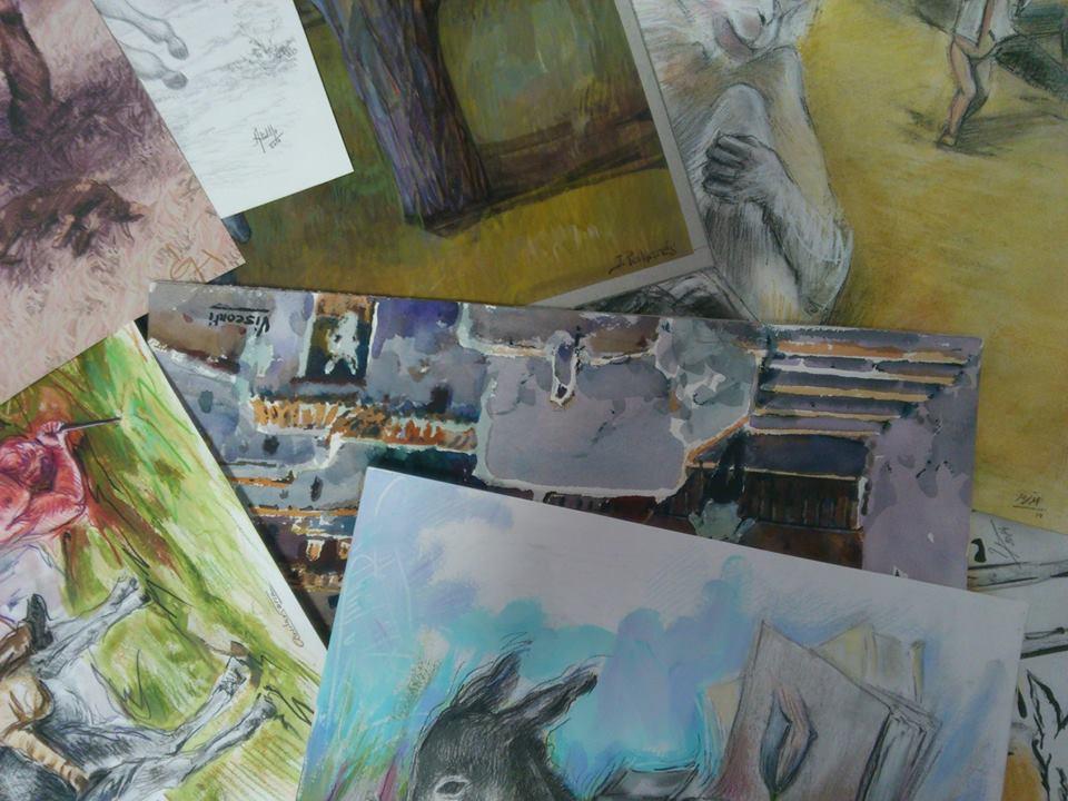 Preparando más de Platero y los artistas
