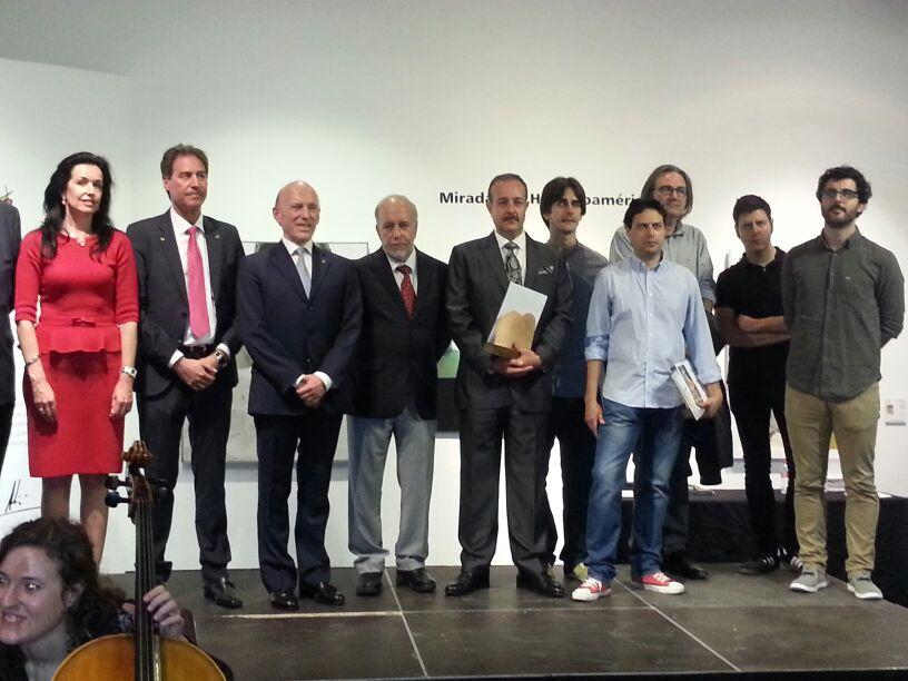 Saorin. Foto de la entrega del premio