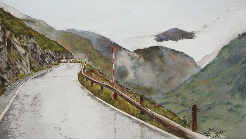Asturias carretera de  montana