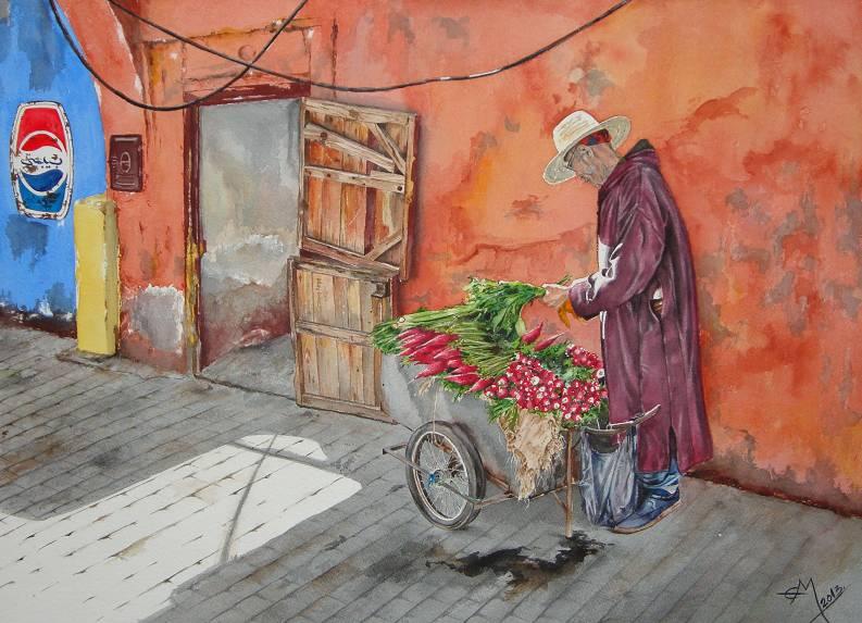 vendedor verduras