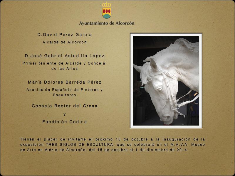 Invitación Tres siglos de escultura