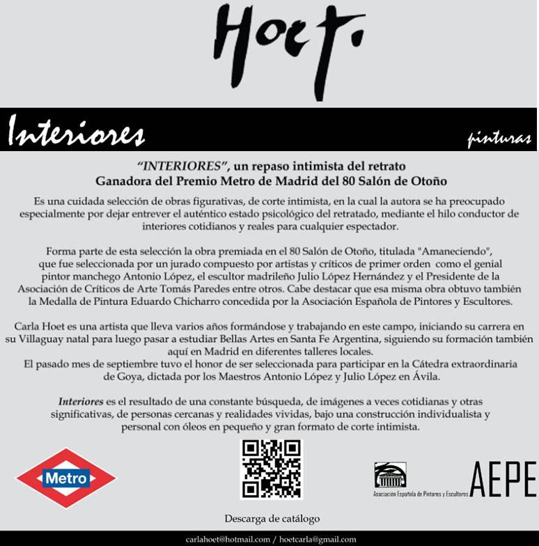 Cartel Carla Hoet