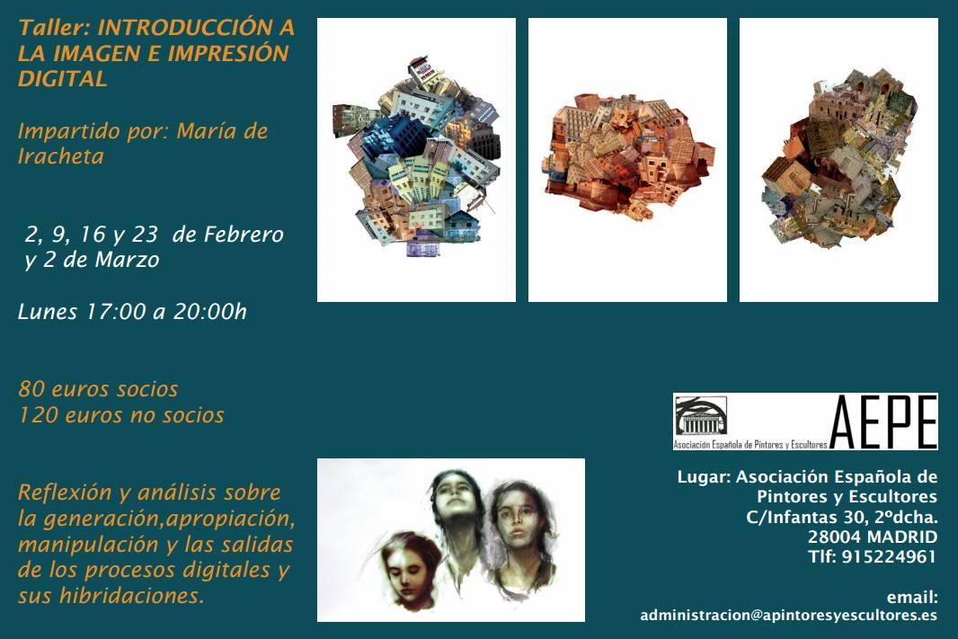 Cartel Taller María de Iracheta