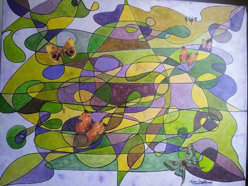 VOLANDO SOBRE LO IMPOSIBLE 65x50  (collage-acrilico-lienzo) 1