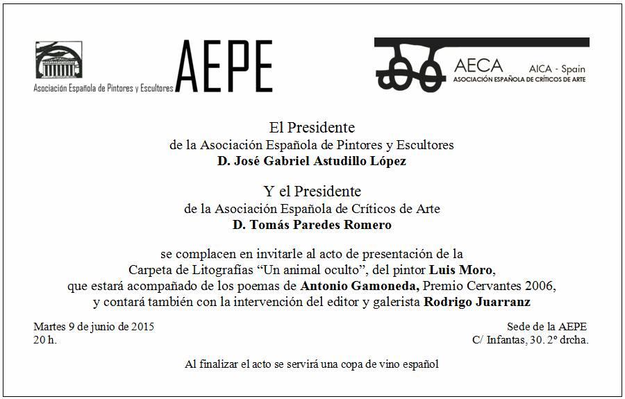 invitación Luis Moro