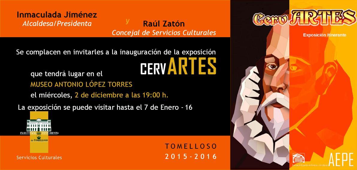 invitación expo CervArtes