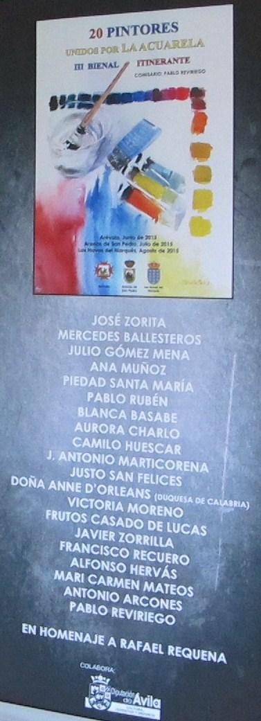 Cartel con participantes