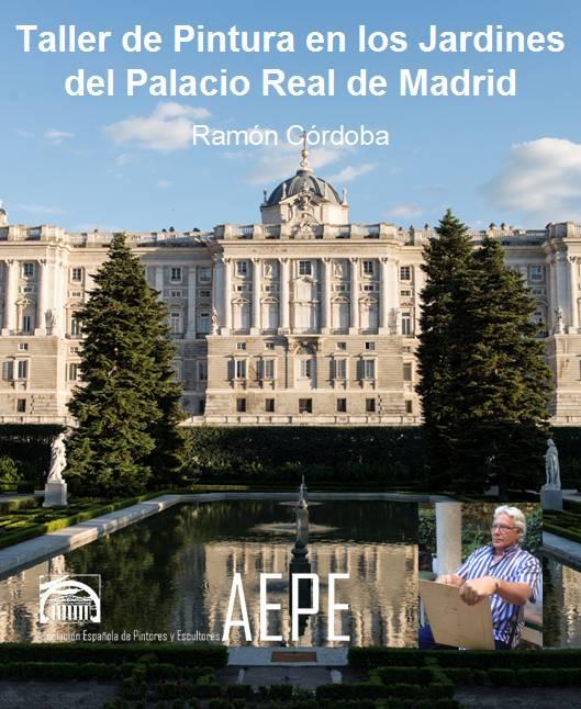 Taller de pintura en los jardines del palacio real de madrid asociaci n espa ola de pintores y - Jardines palacio real madrid ...