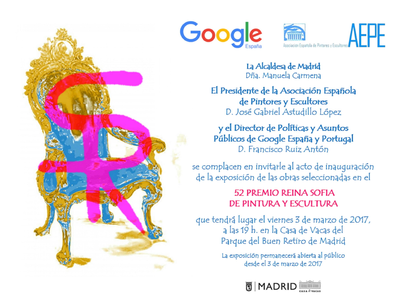 Invitación inauguración 52 PREMIO REINA SOFIA