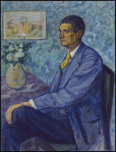 Juan de Echevarría. Retrato de Iturrino. 1919.