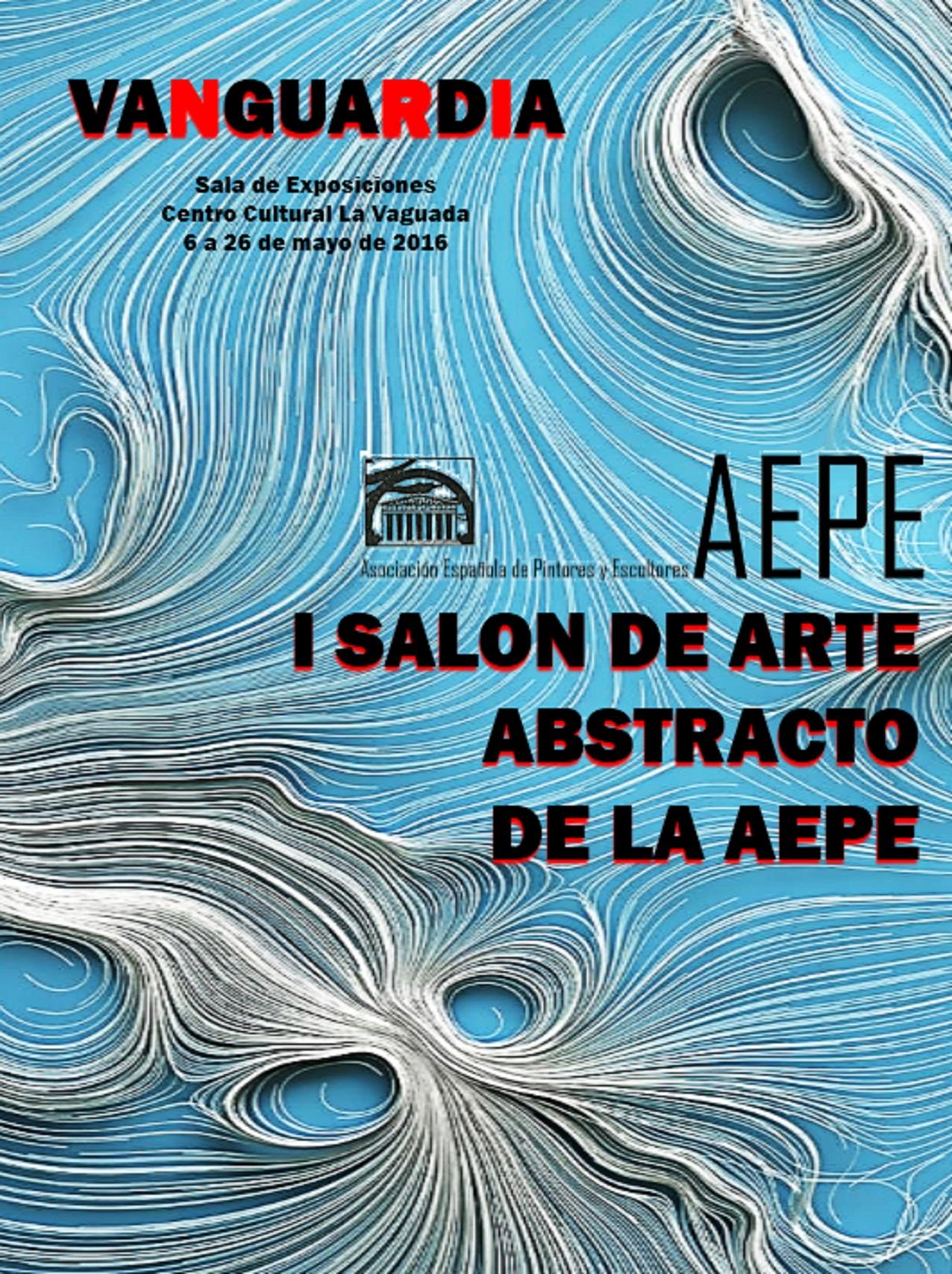 cartel Salón arte abstracto a mil