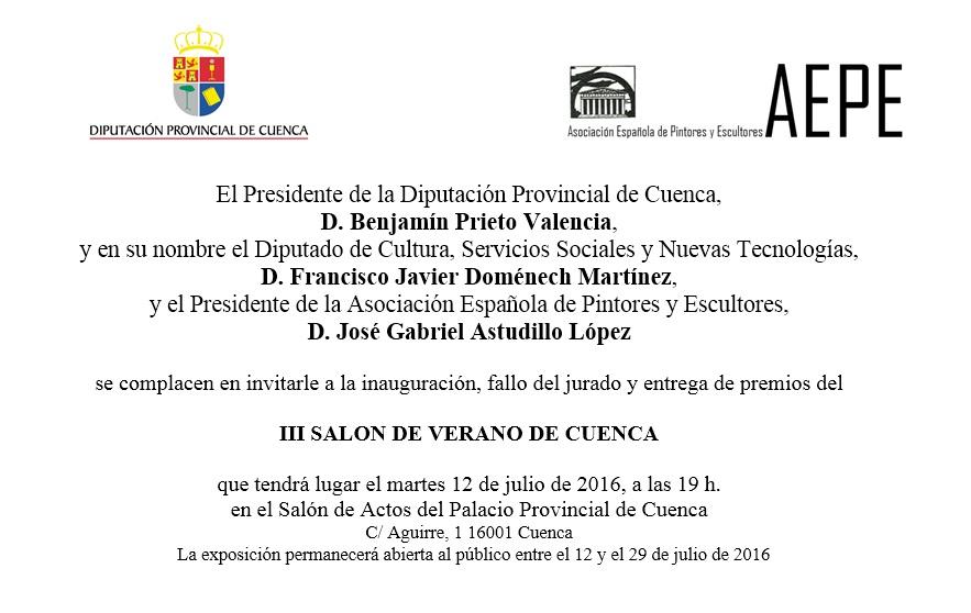 invitación III Salón de Verano de Cuenca