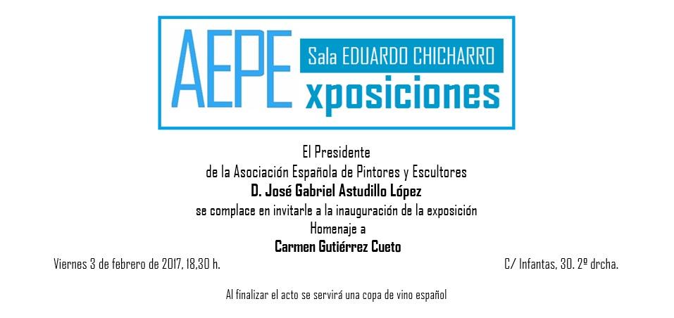 Invitación Carmen Gutiérrez Cueto