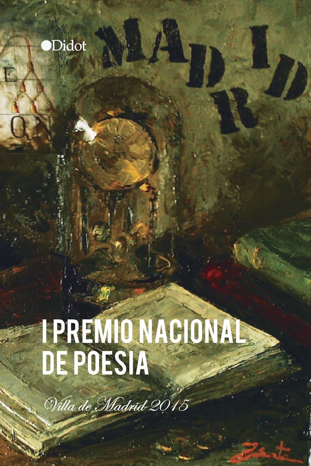 Portada libro del I Premio Nacional de Poesía Villa de Madrid 2015