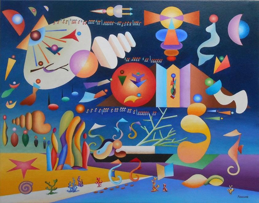 Alfonsina y el mar 81 x 100 Cm