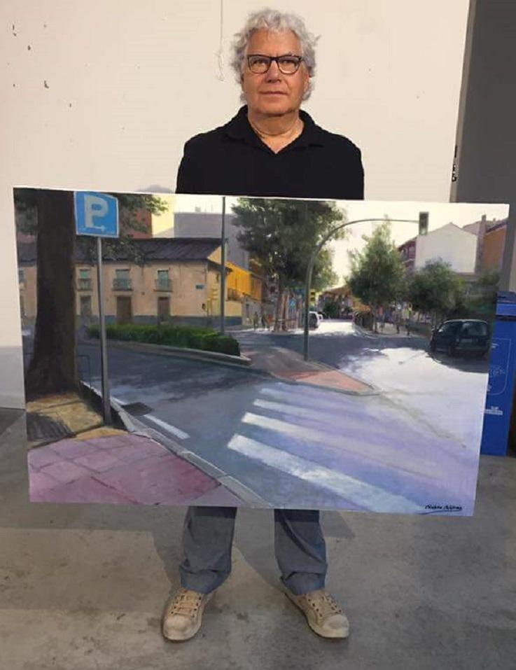 Pablo rub n l pez ganador del xvii certamen de pintura - Pintores en getafe ...